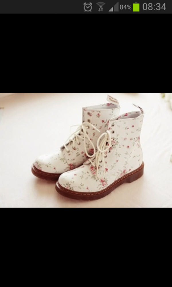 shoes flowers white cool vintage brown
