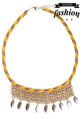 Colar FiveBlu Zen Amarelo - Compre Agora   Dafiti