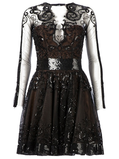 Women - Zuhair Murad Sequin Embellished Sheer Panel Dress - L'Eclaireur Shop
