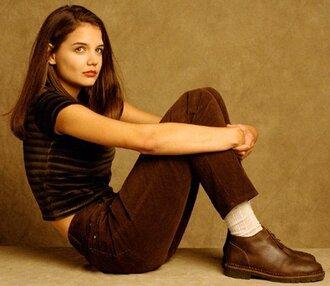 pants burgundy dawsons creek corduroy jeans denim velvet high waisted jeans katie holmes cut offs top shoes