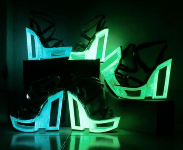 shoes weidges fashion crossing shoes high heels neon rock strappy sandals black high heels platform shoes neon