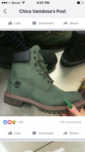 shoes olive green timberlands