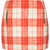 Petite Orange Wool Check Skirt - Topshop