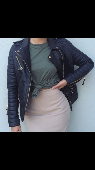 jacket tumblr tumblr girl biker jacket
