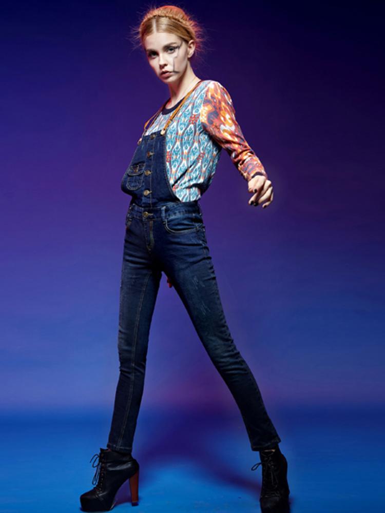 ELF SACK Overalls In Jeans | Choies