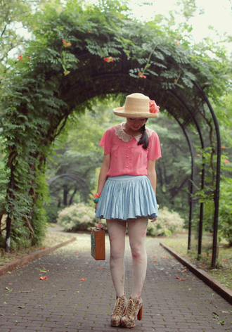 tiny toad stool pink blouse shirt
