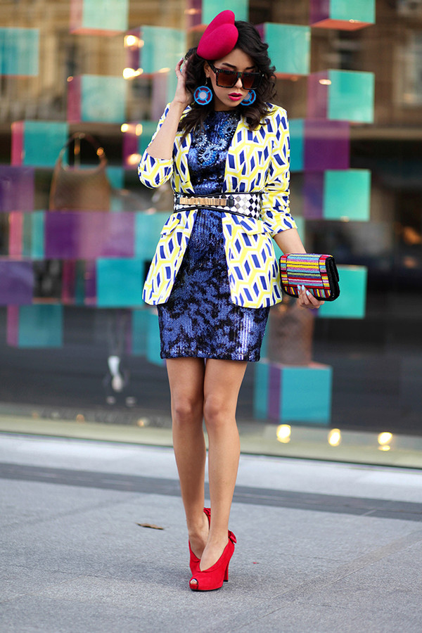 macademian girl jacket dress shoes bag belt sunglasses jewels