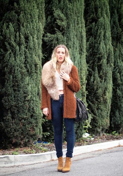 b. jones style blogger jacket bag rust white crop tops