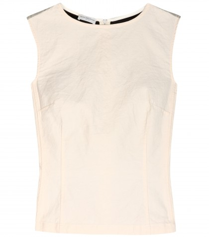 mytheresa.com -  Cotton and paper-blend top  - sleeveless - tops - clothing - Luxury Fashion for Women / Designer clothing, shoes, bags