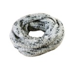 Fleck Knitted Snood in Gray