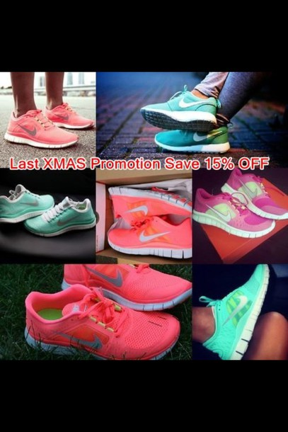 shoes pink fluro nikes