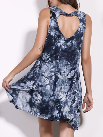 dress dressfo heather morris sleeveless fashion style trendy mini dress tie dye
