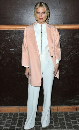 pants annalynne mccord jacket coat blazer top suit white