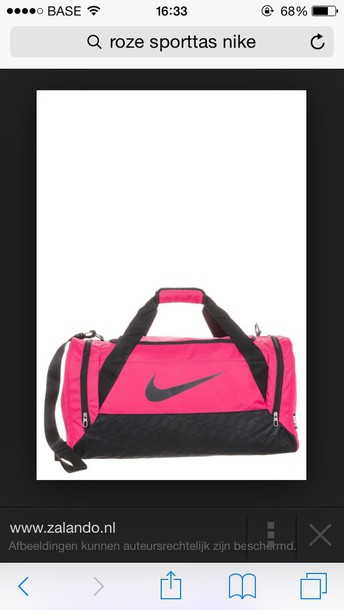 bag pink little bag nike