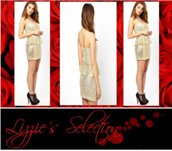 dress goldandwhite peplum dress cocktail dress gal meets glam glamorous dress glitter dress gold sequins