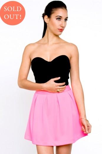 Scuba Skater Skirt- Hot Pink-$42