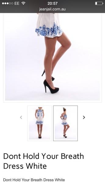 dress blue and white dress