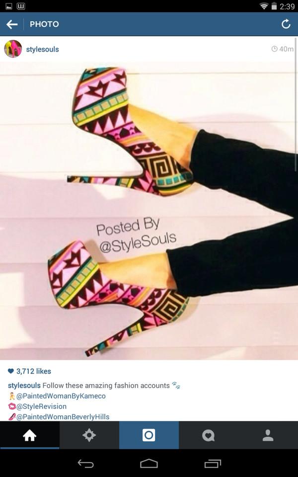 shoes colorful heels neonheels high heels pretty