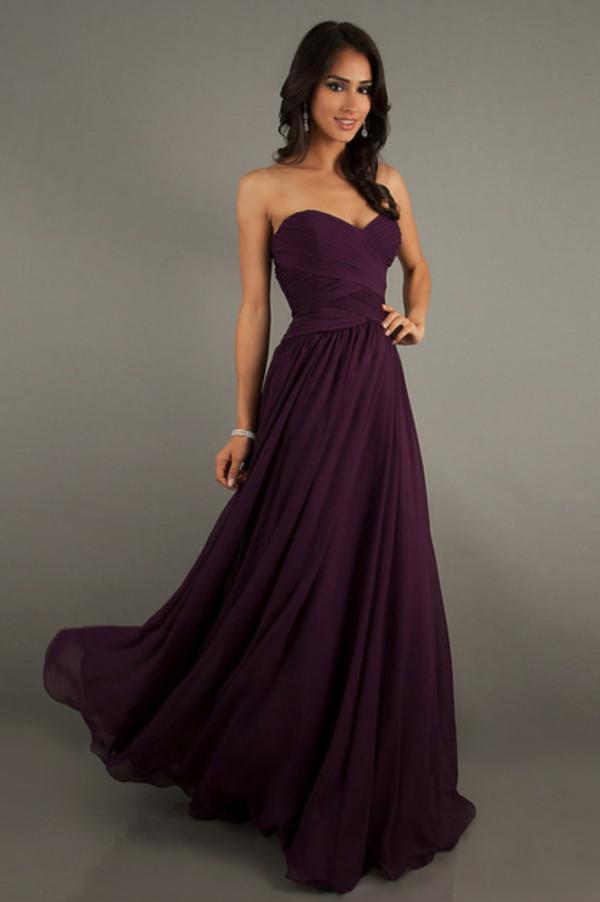 dress purple dress prom dress
