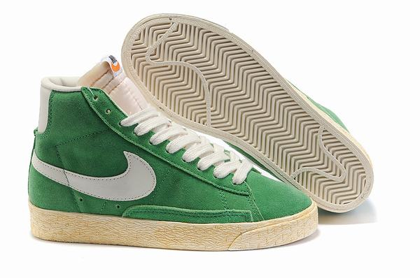 Nike Trainers WMNS Blazer Hi Vintage Suede TEAL GREEN Shoes