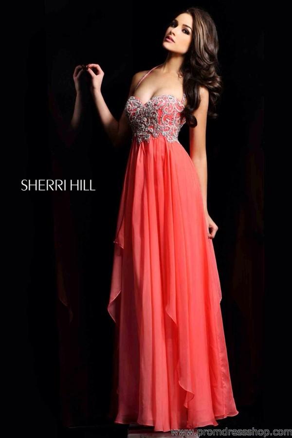 dress coral dress prom dress coral