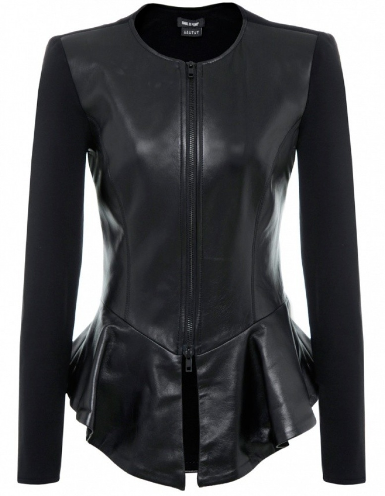 Women's Isabel de Pedro Peplum Leather Jacket | JULES B