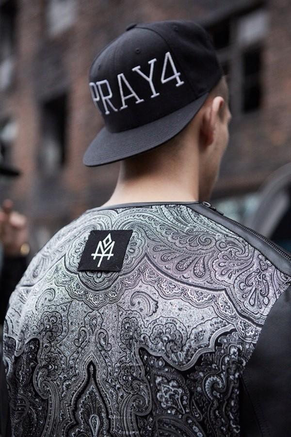t-shirt leather black brand pattern logo