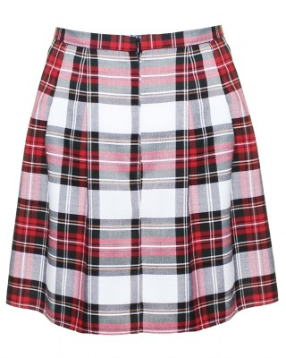 LOVE White Tartan Pleated Skirt - In Love With Fashion