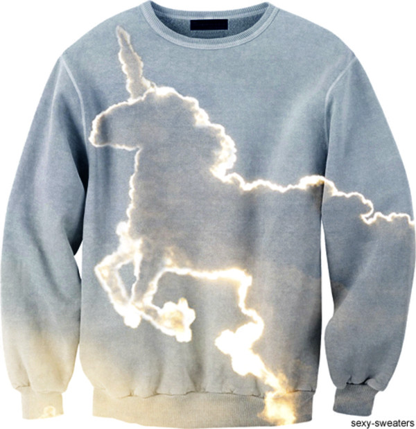 sweater unicorn blue white sexy beautiful