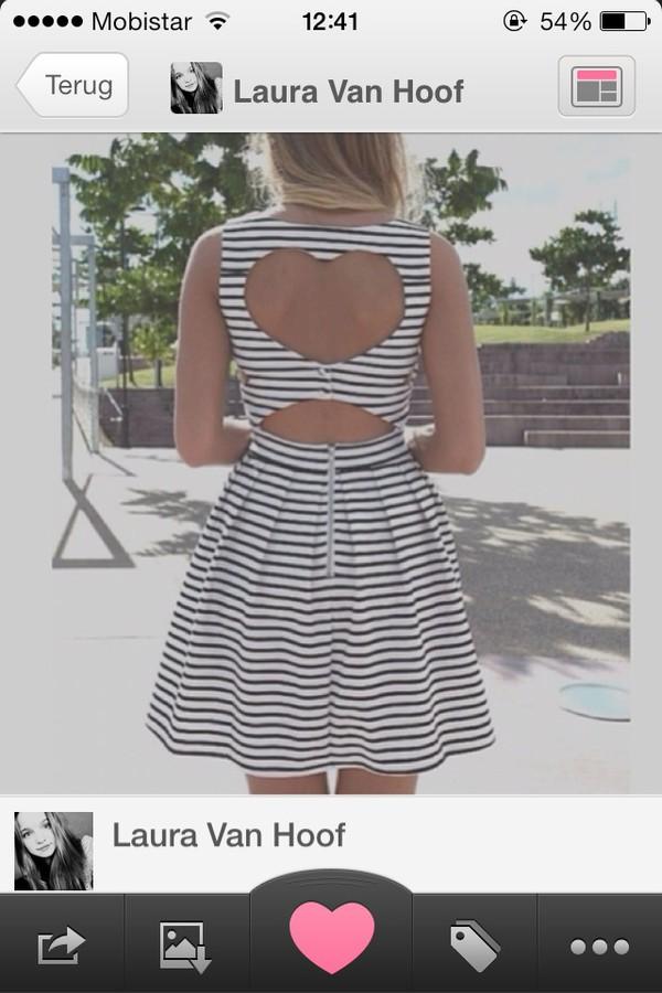 dress cut out heart dress open back dresses
