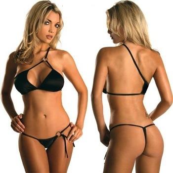 Final Sale Promotion 2013 Women Beach Bikini Black Swimmer