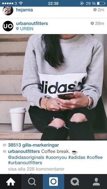 sweater grey adidas original