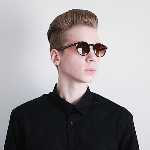Vintage Inspired Key Hole Round Spectacles P3 Sunglasses 7055                           | zeroUV