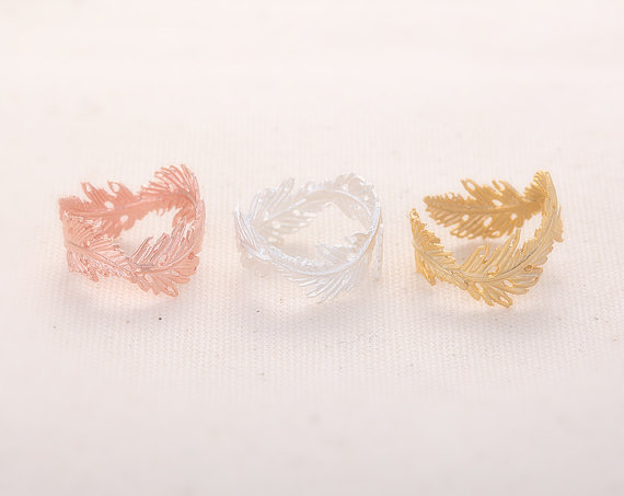 2014 New Best Sell Product Feathers ,Leaf ,adjustable ,knuckle ,midi rings-in Rings from Jewelry on Aliexpress.com