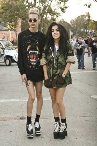 sweater dog grunge black jacket oversized sweater grudge outfit grudge black sweater rottweiler festival
