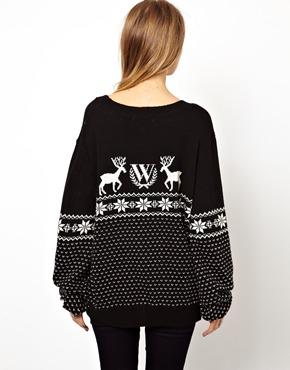 Wildfox   Wildfox Christmas Jumper at ASOS