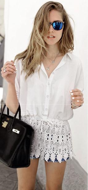 blouse mini dress shirt