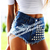 Free shipping Fashion rivet blue high waist denim shorts bo75  Fashion SPIKED STUDDED FESTIVAL HIGH WAISTED SHORTS VINTAGE-inJeans from Apparel & Accessories on Aliexpress.com