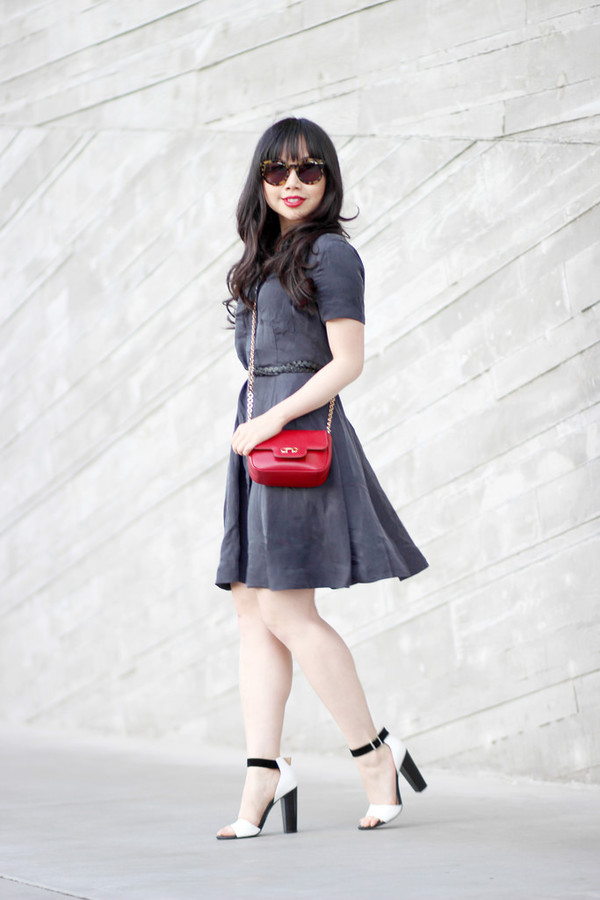 her waise voice dress bag shoes sunglasses