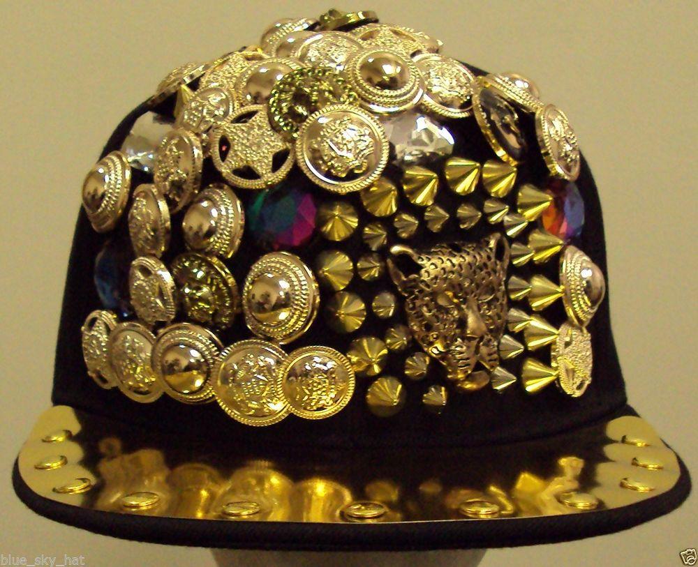 NICKI MINAJ 2CHAINZ STUDDED ROCK SPIKED LEOPARD CHEETAH FASHION SNAPBACK CAP HAT   eBay