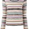 Missoni knitted stripe top, women's, size: 44, wool/rayon