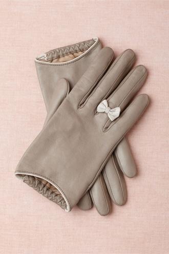 hat bows gloves grey gloves