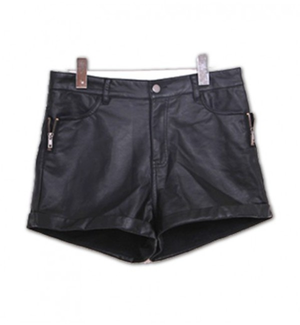 leather leather shorts chick rock chic shorts