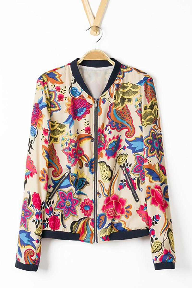 Autumn & Winter New Section  Printed Jacket Coat,Cheap in Wendybox.com