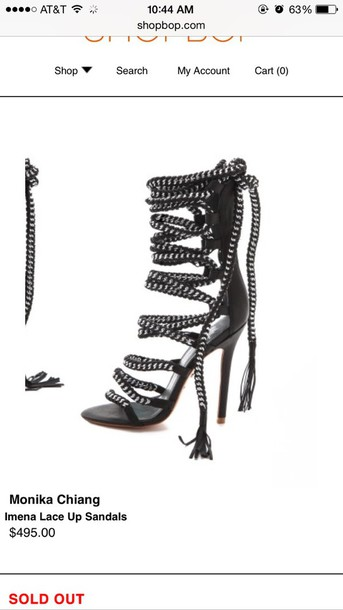 shoes monika chang monikah chang black heels imena sandal size 6
