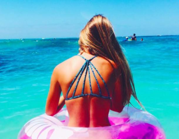 Swimwear Bikini Top Bikini Beach Tumblr Girl Tumblr