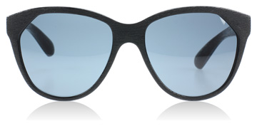 House of Harlow Cary Sonnenbrille : Cary Geschwärztes Holz SG0024 : DE