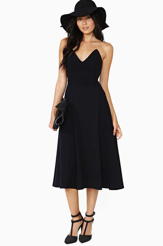 Nasty Gal Bossy Midi Dress in  Clothes Dresses at Nasty Gal