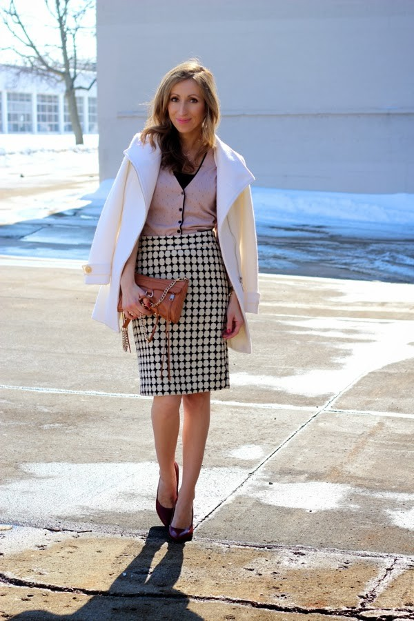 lilly's style coat skirt shoes