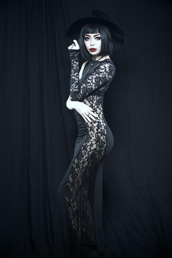 dress black wylona hayashi lace dress maxi dress sexy